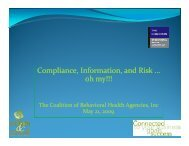 Compliance, Information, and Risk … oh my!!! - The Coalition of ...