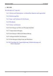 • DIN 1055 Einwirkungen auf Tragwerke Teil 1 Wichten und ...