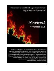 Notework 2005 #2, November - SCOS