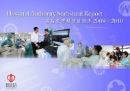 Hospital Authority Statistical Report 2009 - 2010 - 醫院管理局