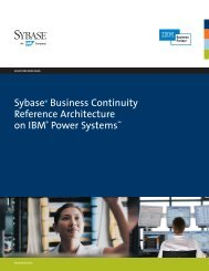 Sybase Business Continuity Reference Architecture on ... - Sybase.se