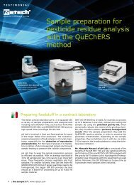 Sample preparation for pesticide residue analysis ... - MEP Instruments