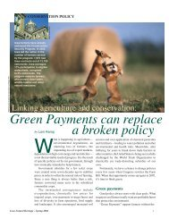 Green Payments can replace a broken policy - The Minnesota Project