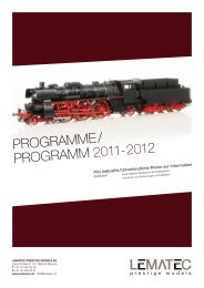 PROGRAMME/ PROGRAMM 2011- 2012 - Lematec