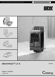 MOVITRAC LT Catalogue - SEW-Eurodrive