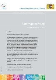 Infoblatt - Zentrum Bayern Familie und Soziales - Bayern