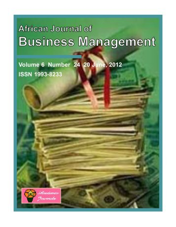Download Complete Issue (9710kb) - Academic Journals