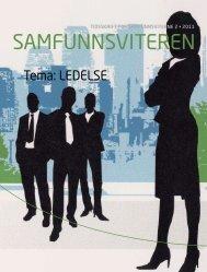 Tema: LEDELSE - Samfunnsviterne