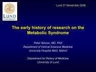 Metabolic syndrome 1 - Lund University Diabetes Centre