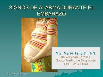 signos de alarma durante el embarazo - Reeme.arizona.edu