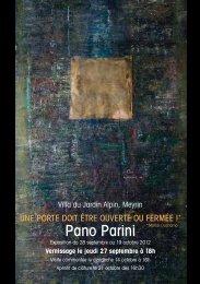 Pano Parini - Société Suisse des Beaux-Arts