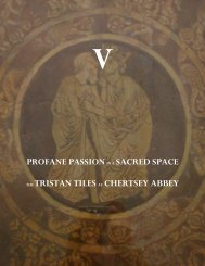 profane passion in a sacred space