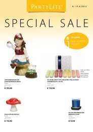 Special Sale Flyer herunterladen - Partylite