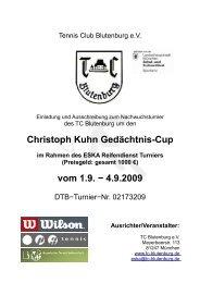 Christoph Kuhn Gedächtnis-Cup vom 1.9. − 4.9.2009 - TC Blutenburg