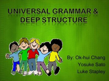 Universal Grammar and Deep Structure