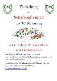 Einladung Schafkopfrennen - TC Blutenburg