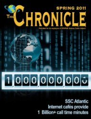 Spring 2011 The Chronicle 1 - US Navy Hosting