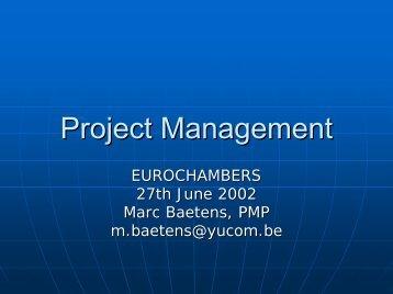 Project Management - Eurochambres Academy