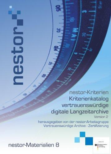 nestor-Kriterienkatalog - edoc - Humboldt-Universität zu Berlin