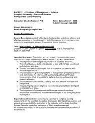 BADM-331 – Principles of Management – Syllabus - Campbell ...