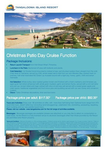Christmas Functions 2011-2012 - Tangalooma Wild Dolphin Resort