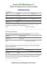 Aufnahmeantrag - TC Blutenburg