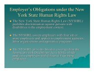 New York State Human Rights Law Update - The Business Council ...