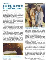 Le Fash: Fashions in the Fast Lane - Sidelines Magazine