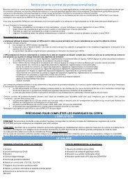 Notice pour le contrat de professionnalisation - Formulaires en ligne