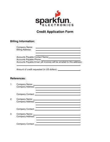 Credit Application Form Please Print To    Schiffer Books