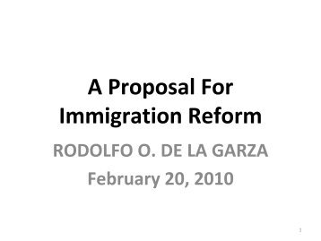 research proposal on immigration reform Us immigration reform 2 these papers were written by a researcher (or researchers) who participated in a baker institute research projectwherever feasible, these papers are.