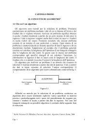 1 CAPITOLO PRIMO IL CONCETTO DI ALGORITMO1 1.1 ... - Filosofia