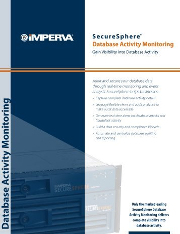 SecureSphere Database Activity Monitoring - Betta Security
