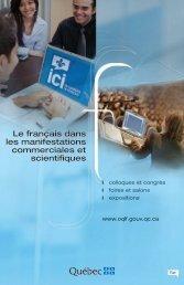 Le français dans les manifestations commerciales et scientifiques