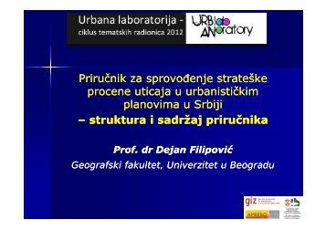 Priručnik za sprovođenje strateške procene uticaja u urbanističkim ...
