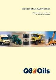 Automotive Lubricants - Q8 Oils