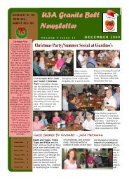U3A Granite Belt Newsletter - GraniteNet