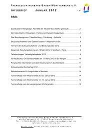 INFOBRIEF JANUAR 2012 - Pferdezuchtverband Baden-Württemberg