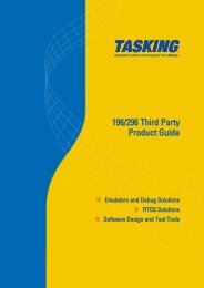 196/296 Third Party Product Guide - Tasking