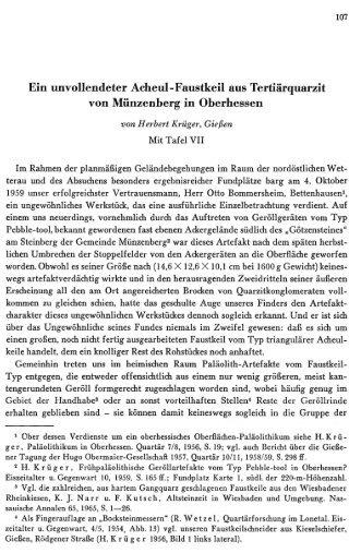 Ein unvollendeter Acheul-Faustkeil aus Tertiärquarzit ... - quartaer.eu