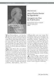 Johann Christian Kestner der Eigendenker