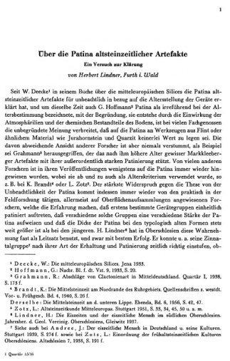Ober die Patina altsteinzeitlicher Artefakte - quartaer.eu