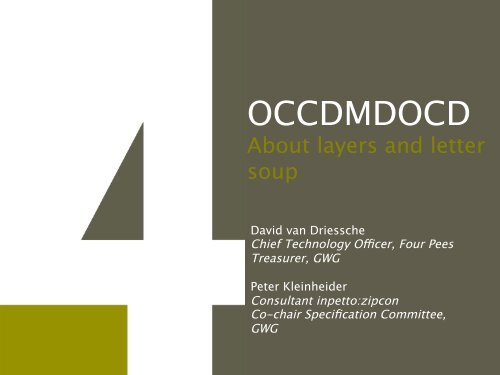 OCCD & OCMD – or OC What??