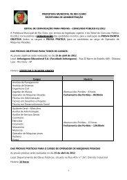 edital de convocação para provas do concurso público n° 01/2012