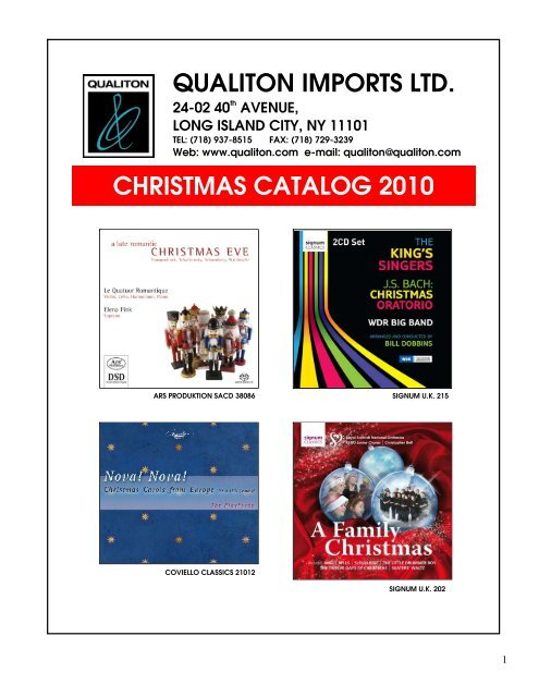Ltd Christmas Catalog.Qualiton Imports Ltd Christmas Catalog 2010