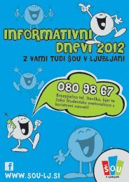 Informativni dnevi 2012 - Družina ŠOU v Ljubljani