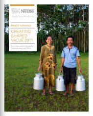 CreaTIng Shared VaLue 2011 - Nestlé Indonesia