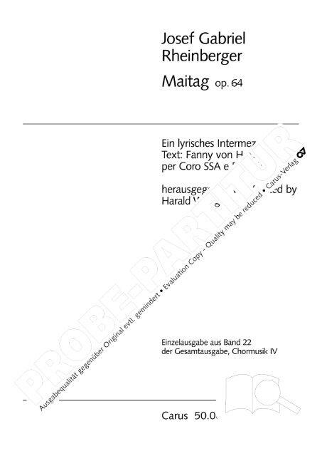Josef Gabriel - Carus-Verlag