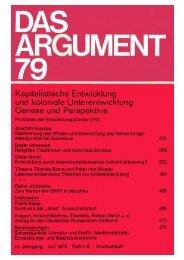 Das Argument 79 - Berliner Institut für kritische Theorie eV
