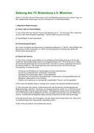 Satzung des TC Blutenburg eV München